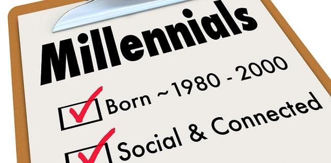 a clipboard checklist about millennials